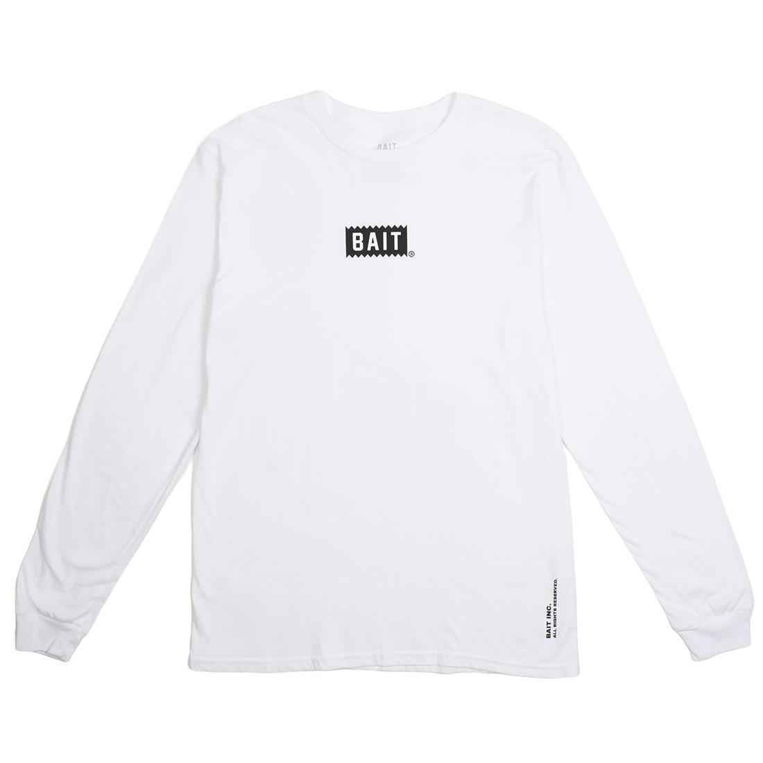 BAIT Men Bite Logo Long Sleeve Tee (white)