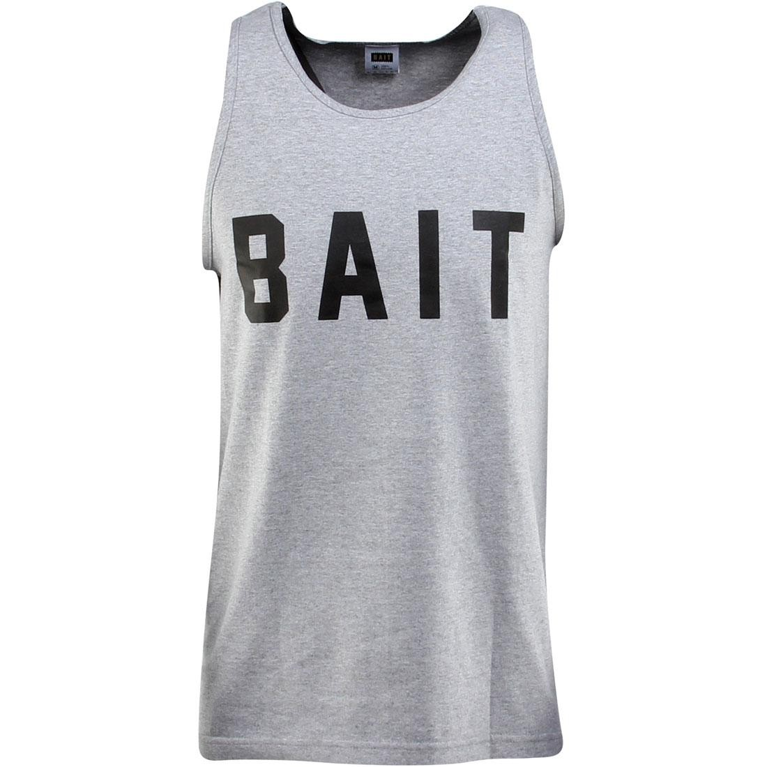 BAIT Logo Tank Top (gray / heather gray / black)