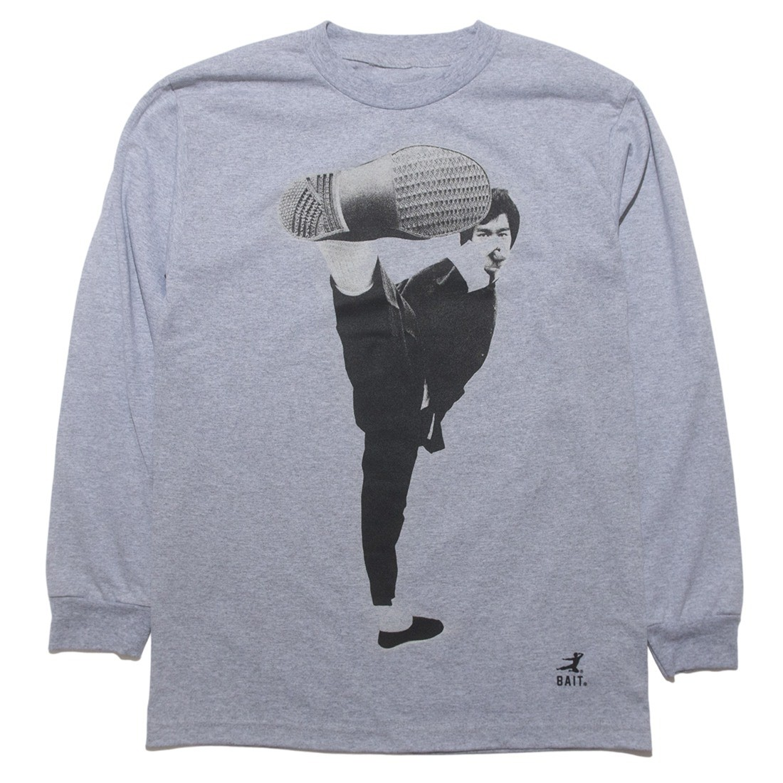 BAIT x Bruce Lee Men Kick Long Sleeve Tee (gray / silver)