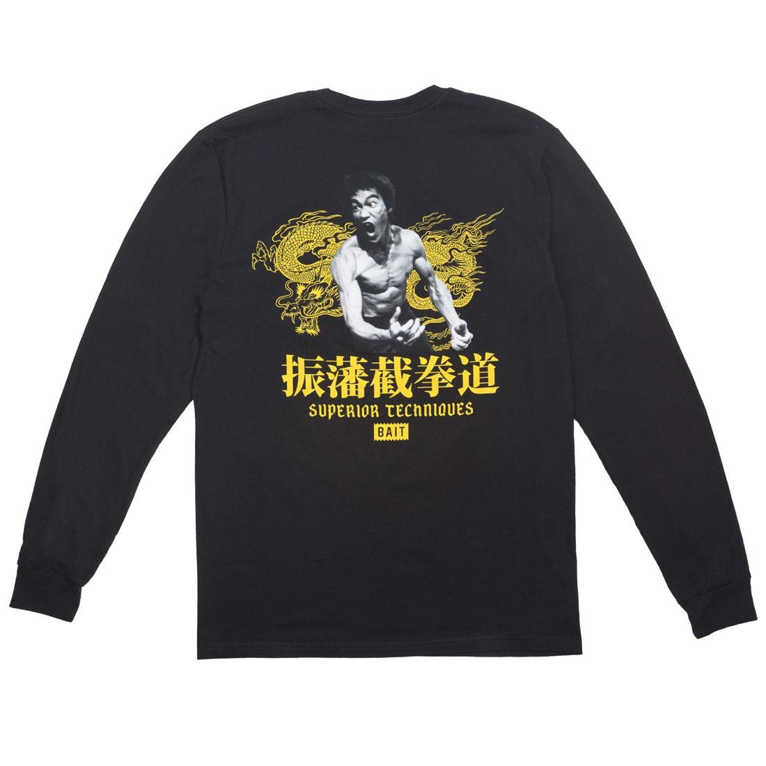 BAIT x Bruce Lee Men Superior Techniques Long Sleeve Tee (black)
