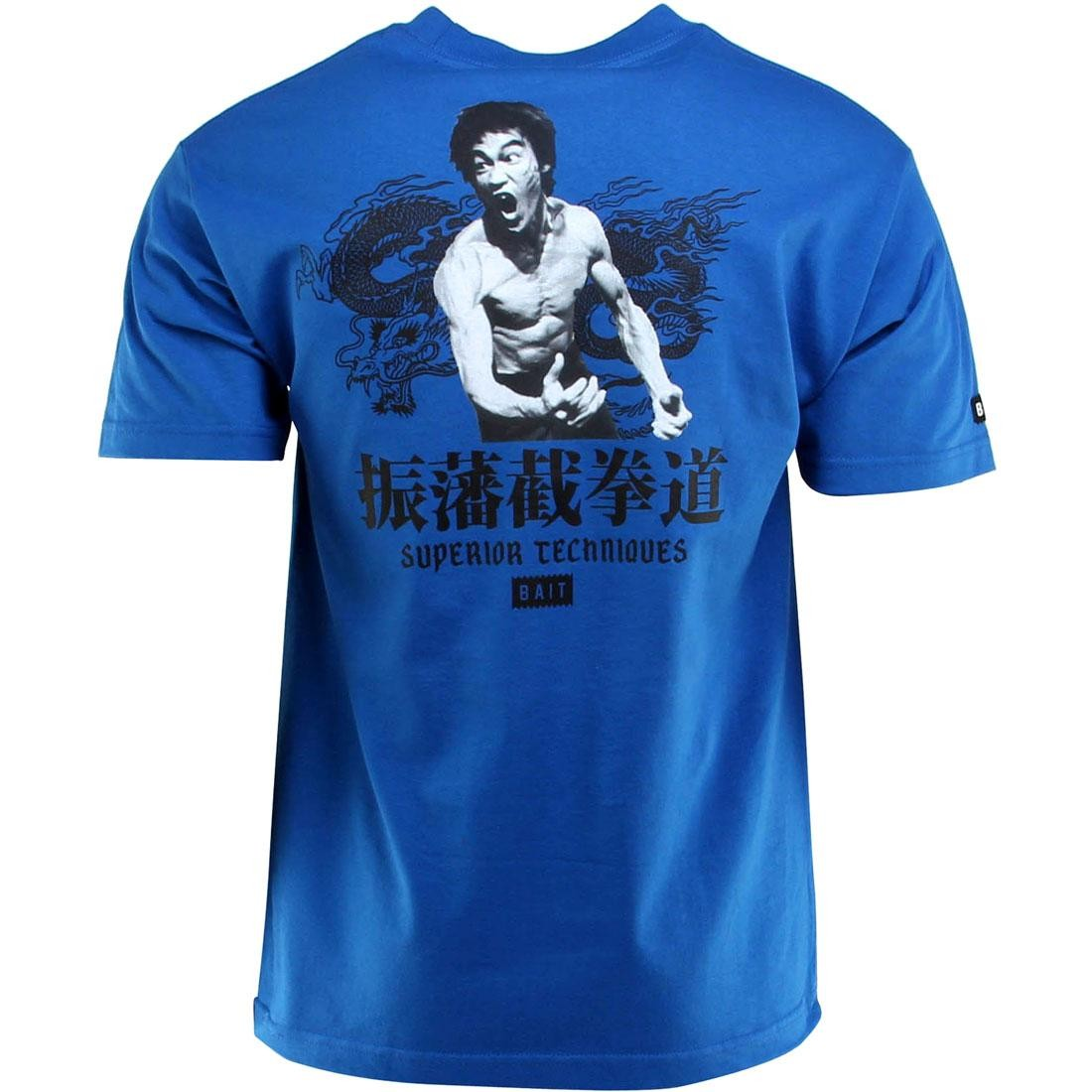 BAIT x Bruce Lee Superior Techniques Tee (blue / royal blue / black)