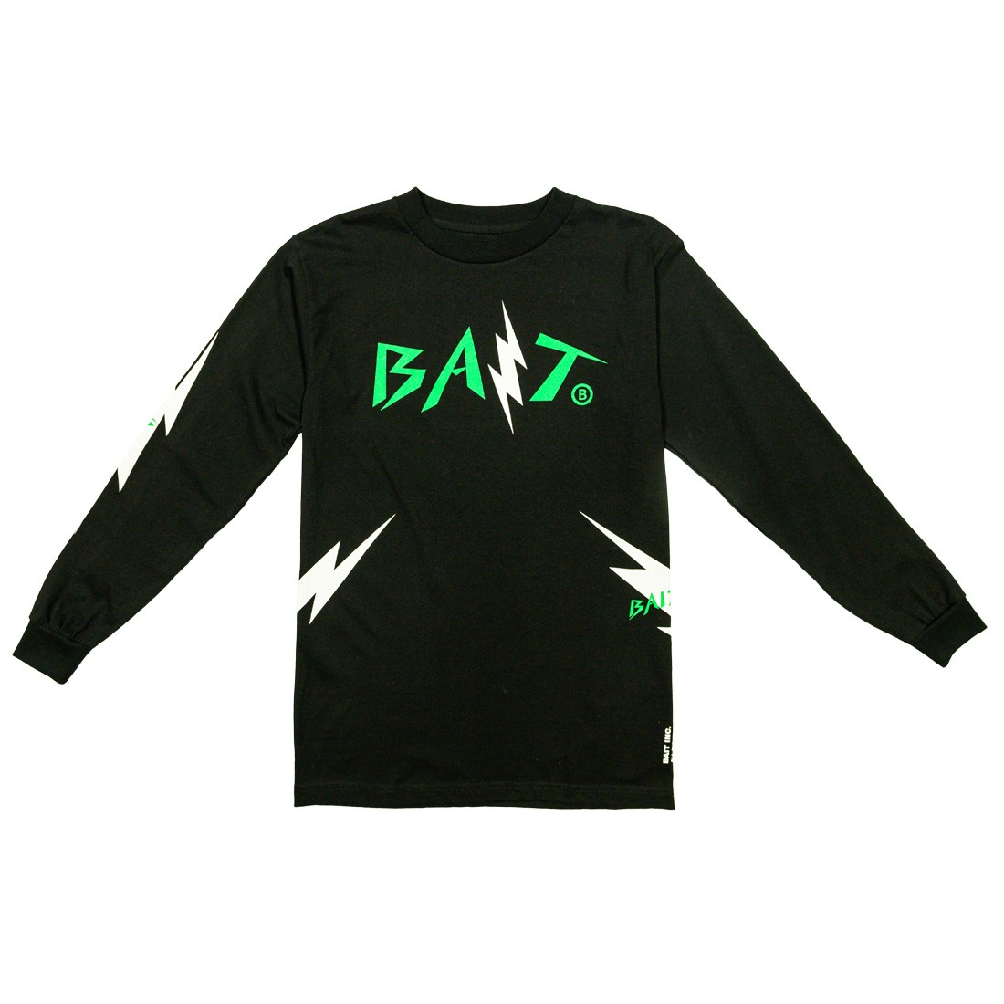 BAIT Men Bolt Long Sleeve Tee (black / green)