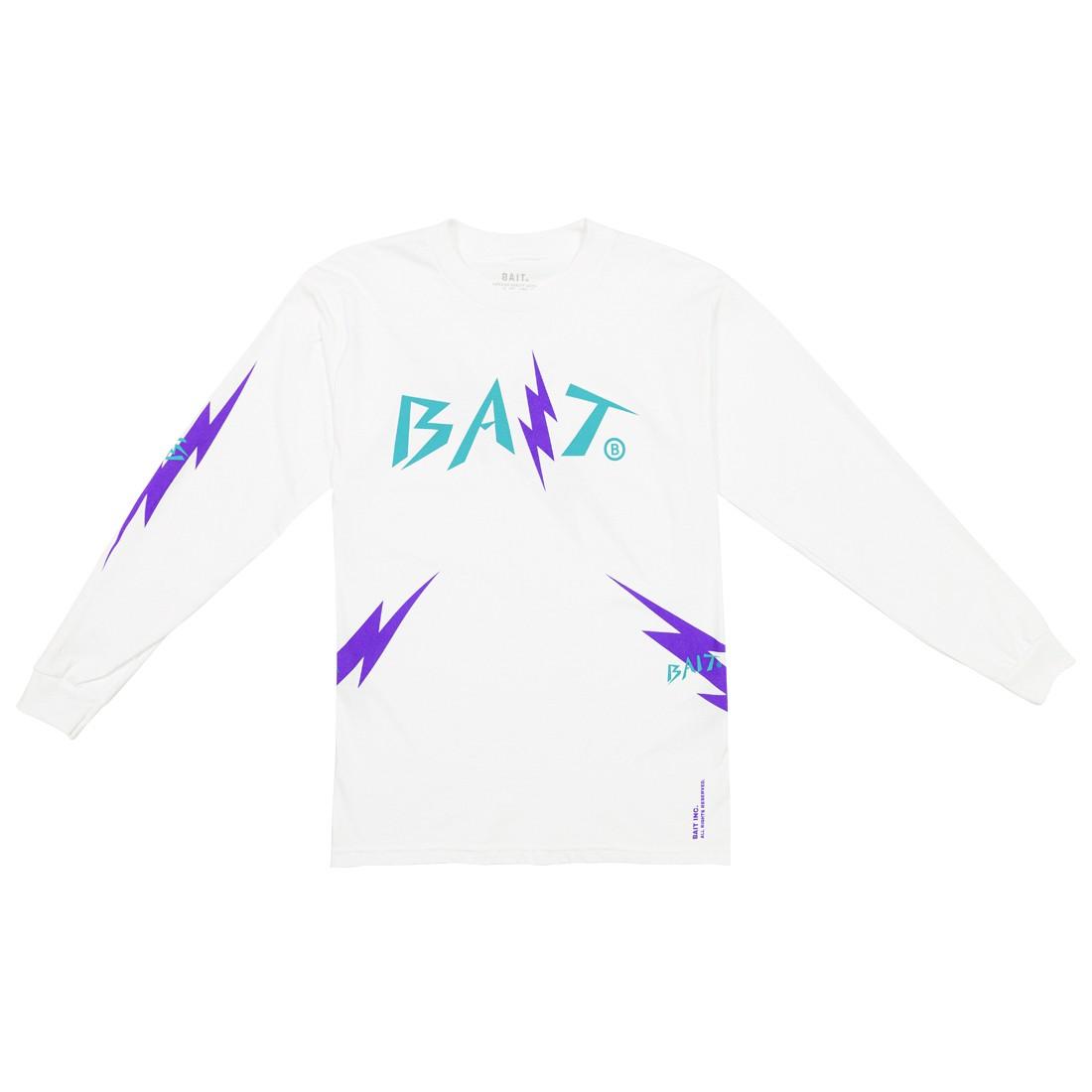 BAIT Men Bolt Long Sleeve Tee (white / teal)