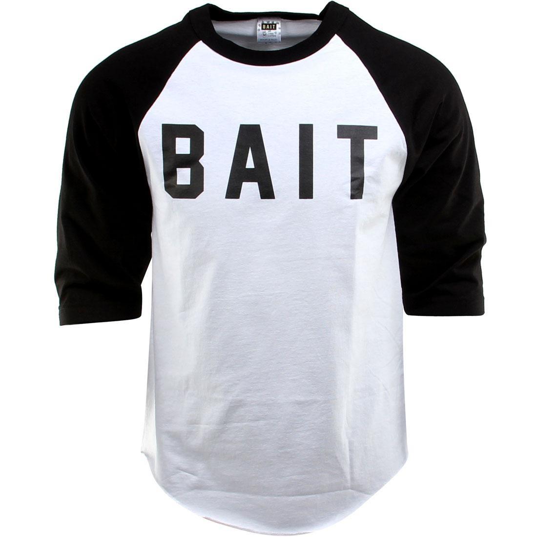 BAIT Logo Raglan Tee (white / black / black)