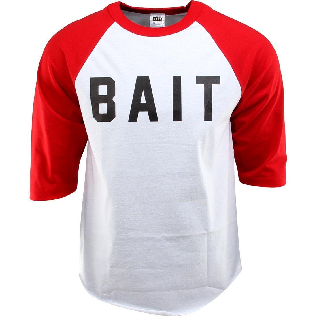 BAIT Logo Raglan Tee (white / red / black)