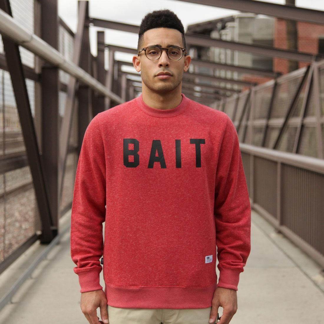 BAIT Invisible Pockets Fitted Crewneck (red)