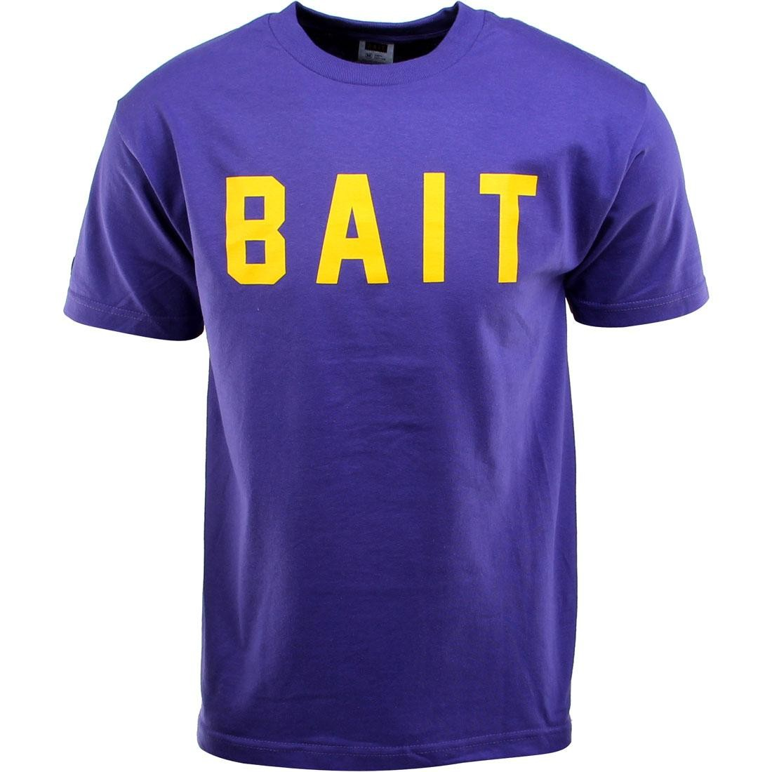 BAIT Logo Tee (purple / yellow)