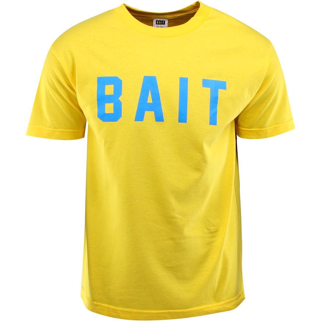 BAIT Logo Tee (yellow / blue)