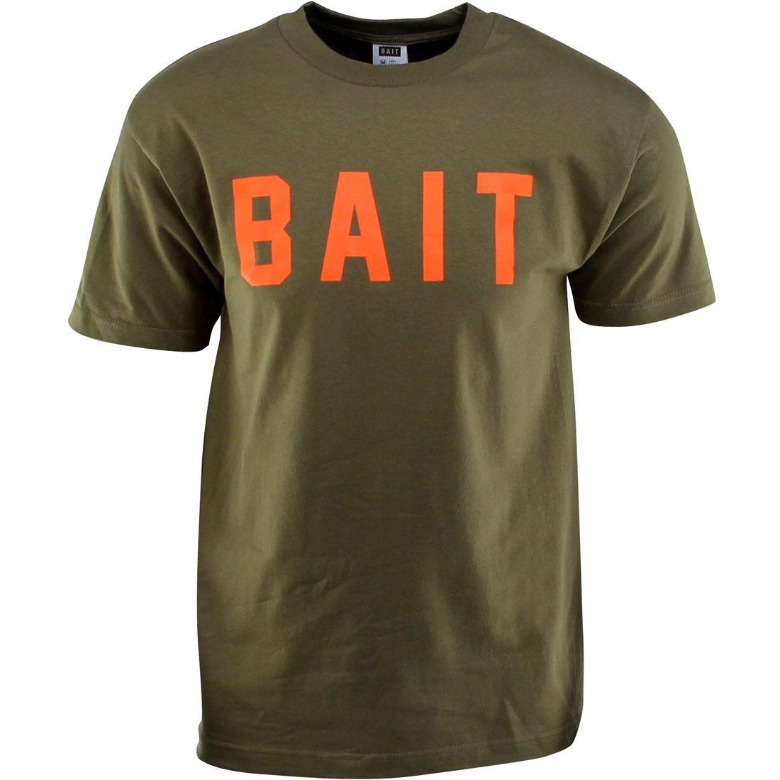 BAIT Logo Tee (green / military green / orange)
