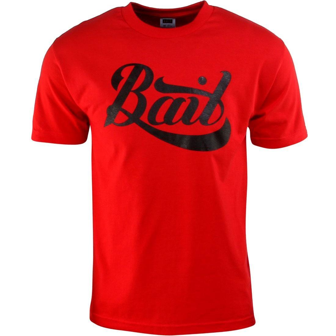BAIT Script Logo Tee (red / black)
