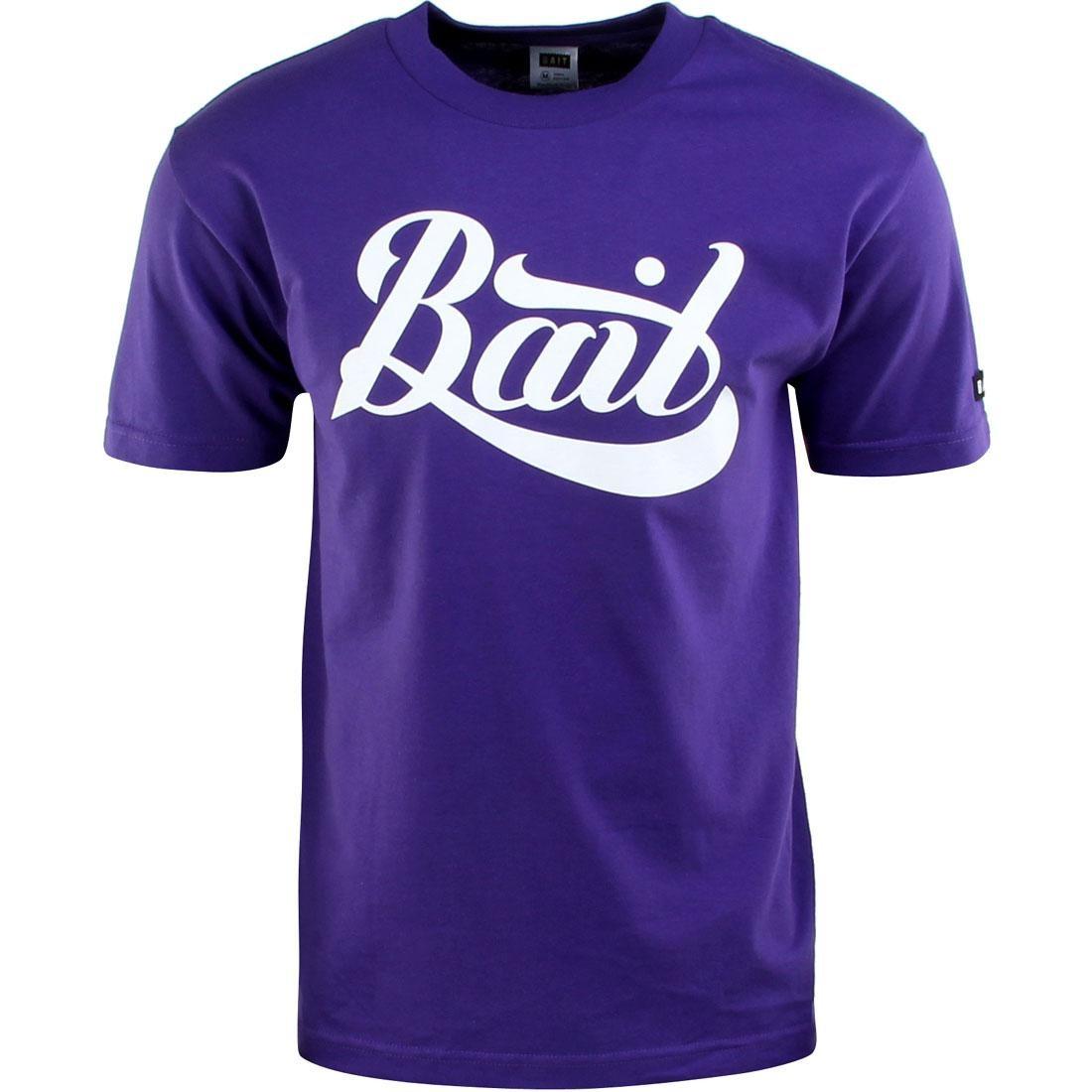 BAIT Script Logo Tee (purple / white)