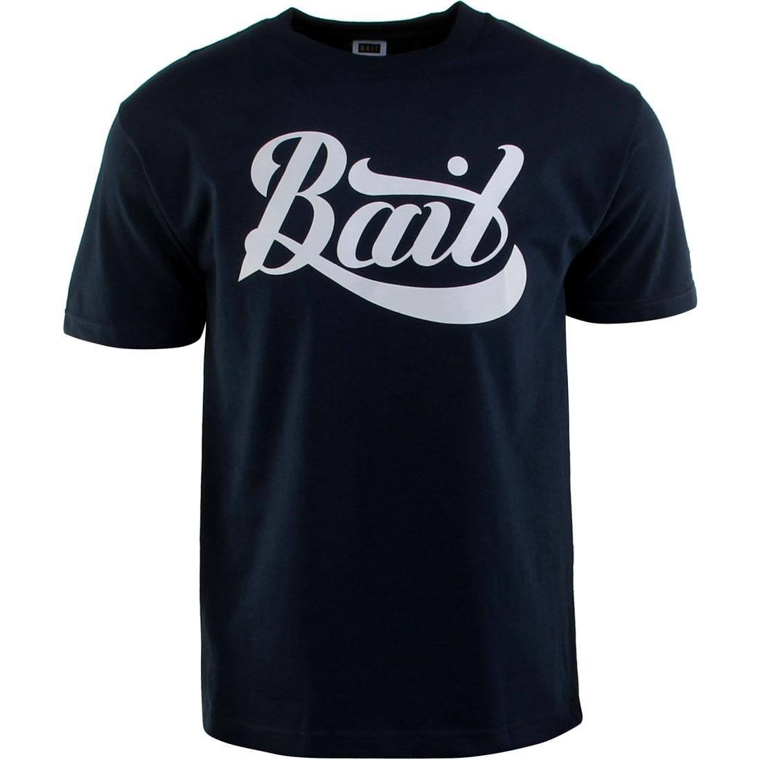 BAIT Script Logo Tee (navy / gray)