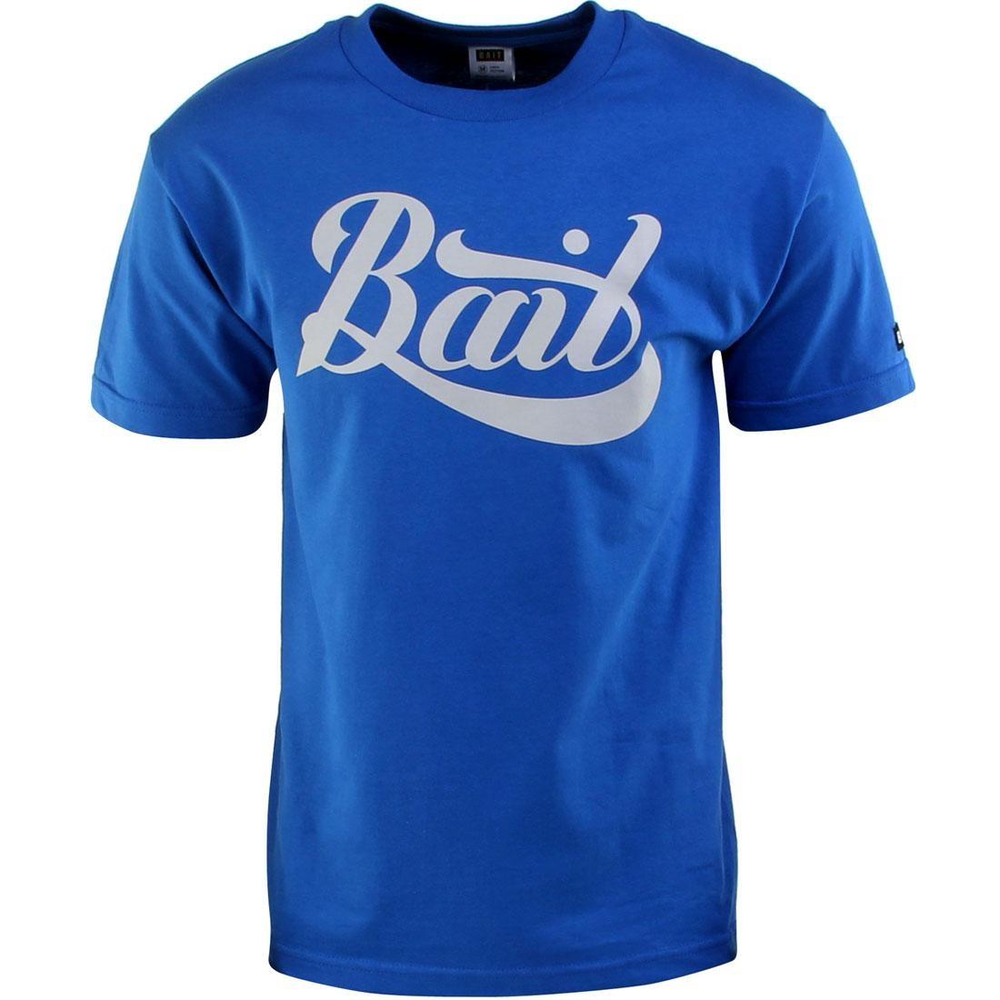 BAIT Script Logo Tee (blue / royal blue / gray)