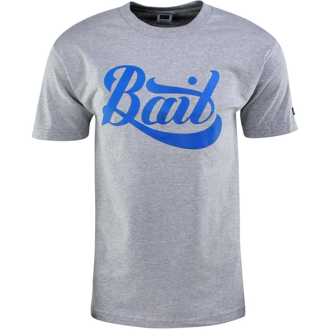 BAIT Script Logo Tee (gray / heather gray / blue)