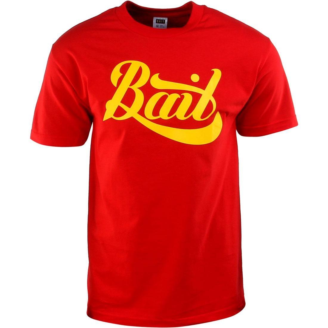BAIT Script Logo Tee (red / yellow)