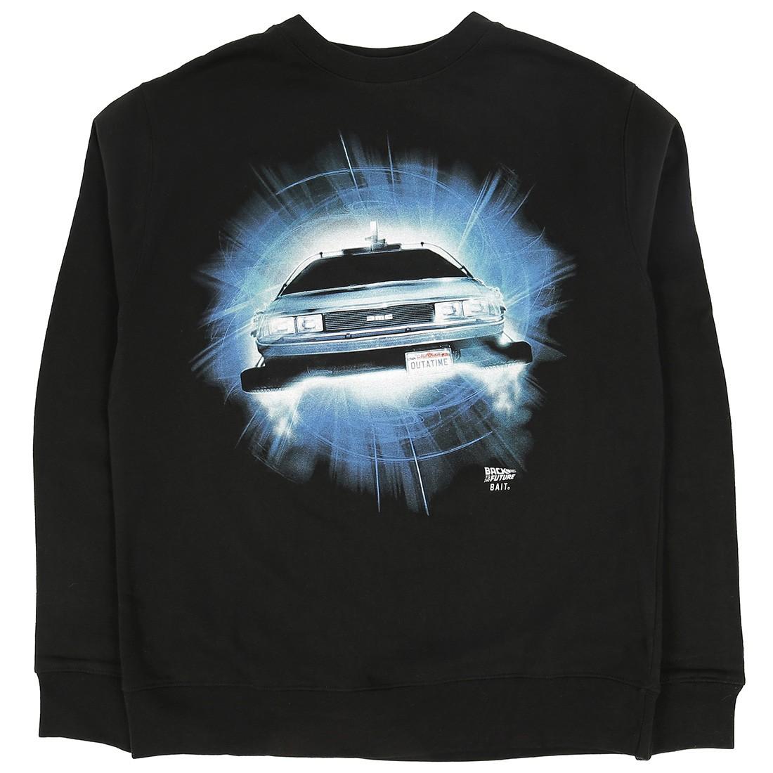 BAIT x Back To The Future Men DMC Delorean Future Crewneck Sweater (black)
