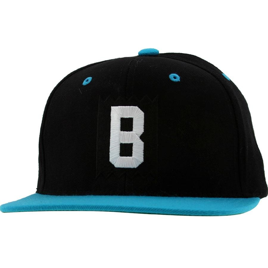 BAIT B Box Logo Snapback Cap (black / teal / white)