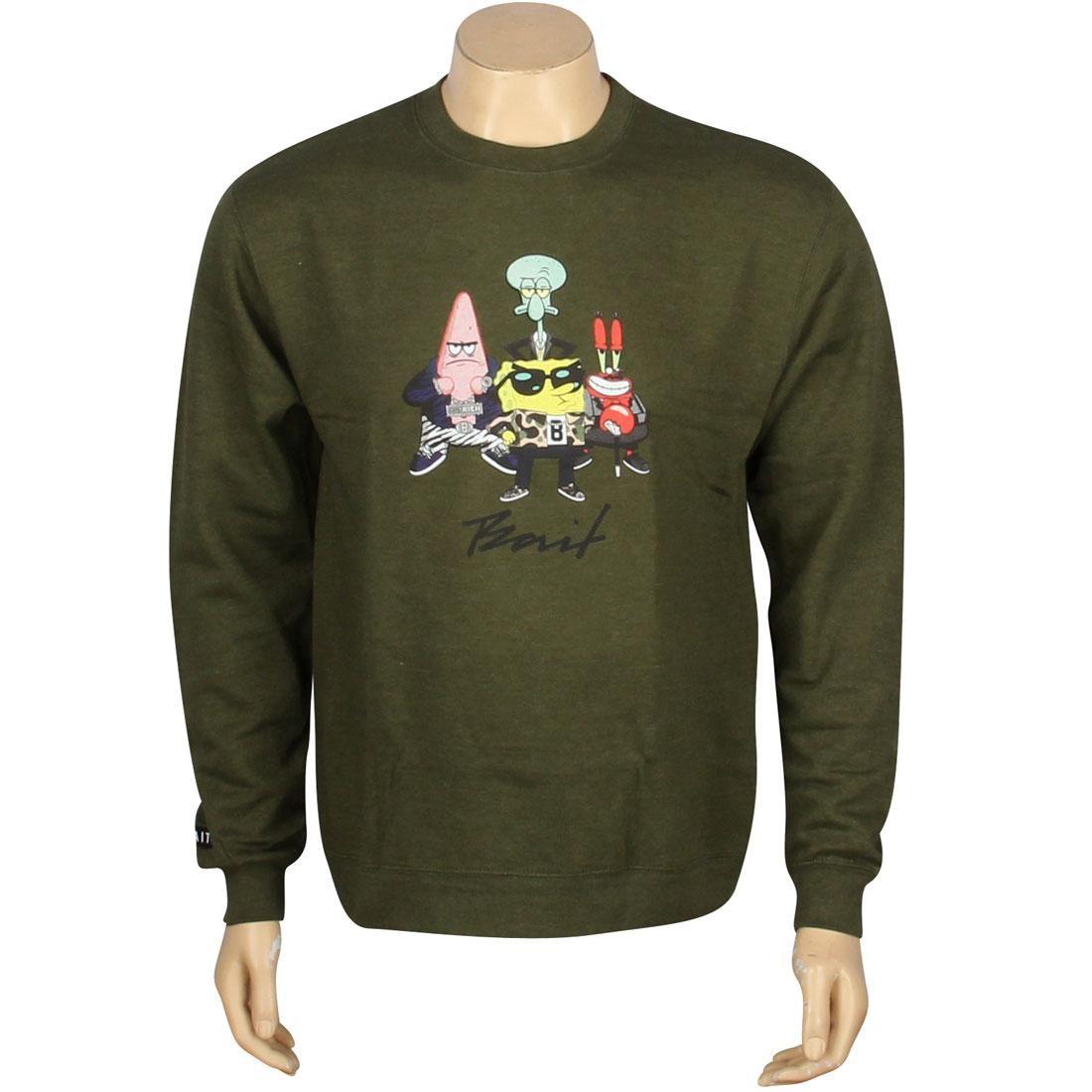 BAIT x SpongeBob Group Crewneck (olive)