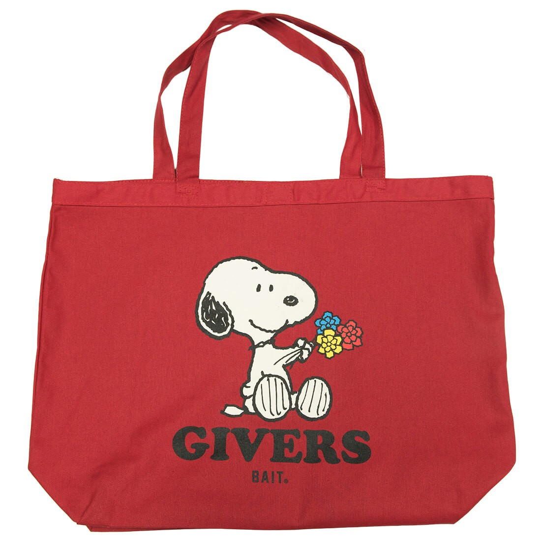 BAIT x Snoopy Givers Tote Bag (red / canvas)