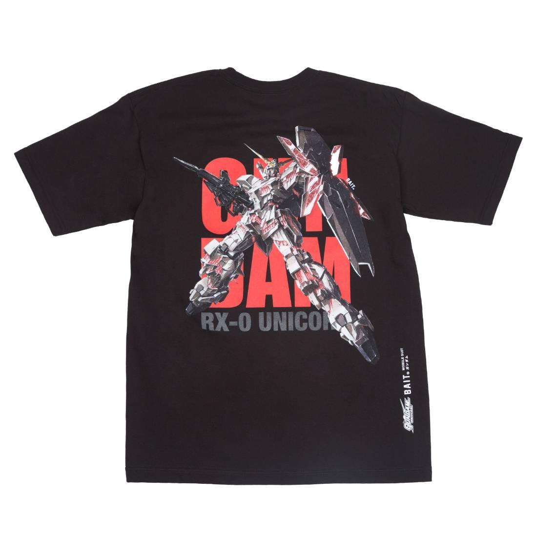 BAIT x Gundam Universe Men Unicorn Gundam Tee (black)