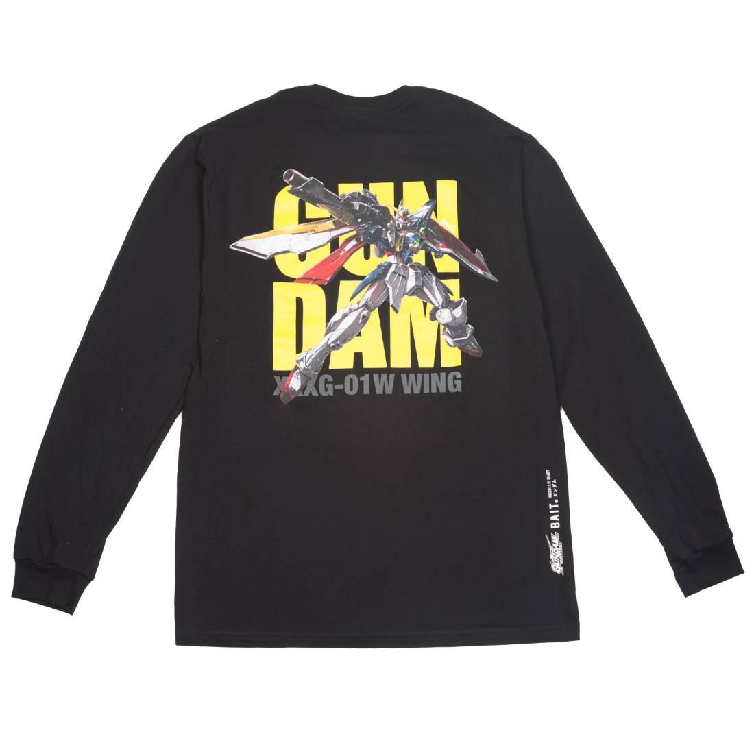 BAIT x Gundam Universe Men Wing Gundam Long Sleeve Tee (black)