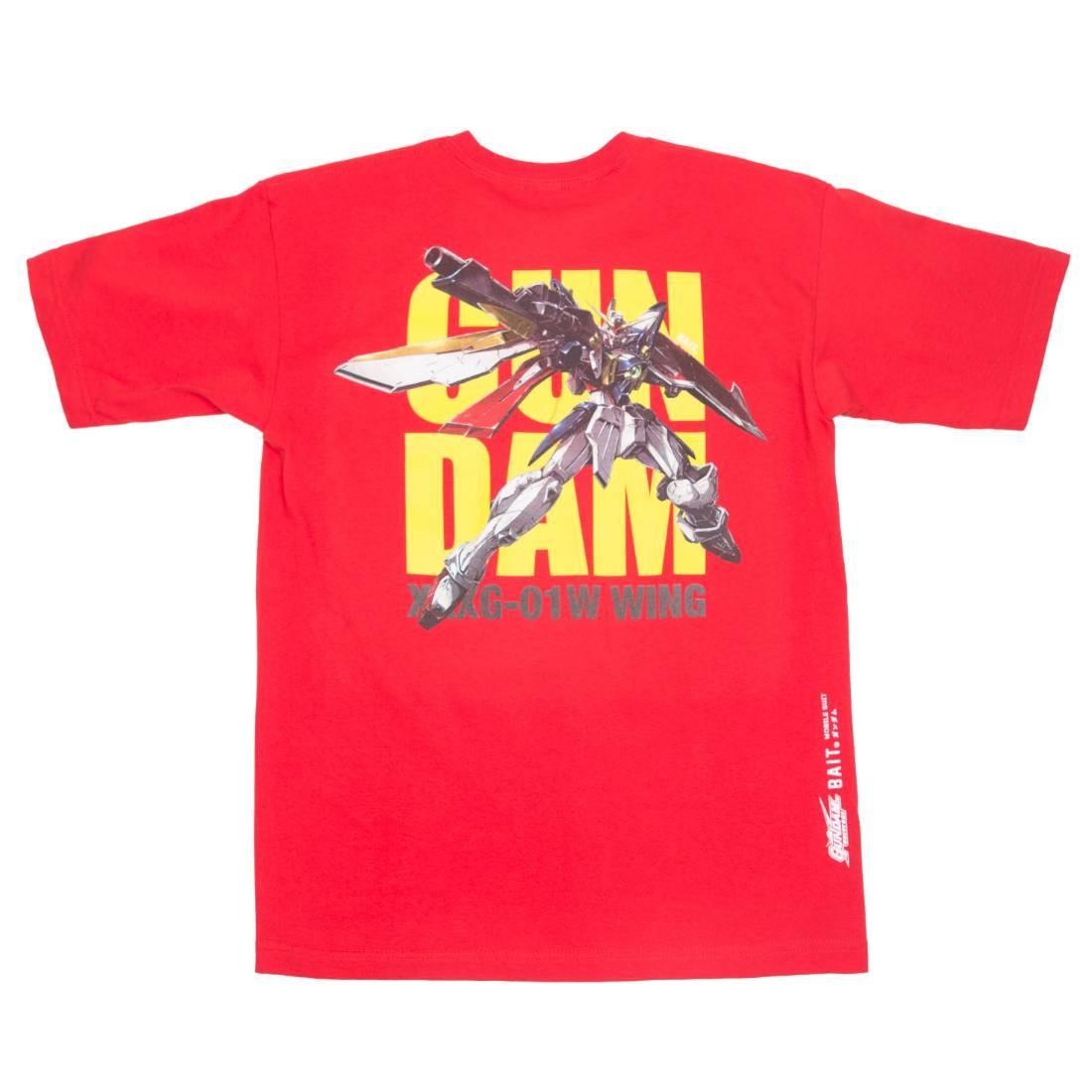 BAIT x Gundam Universe Men Wing Gundam Tee (red)