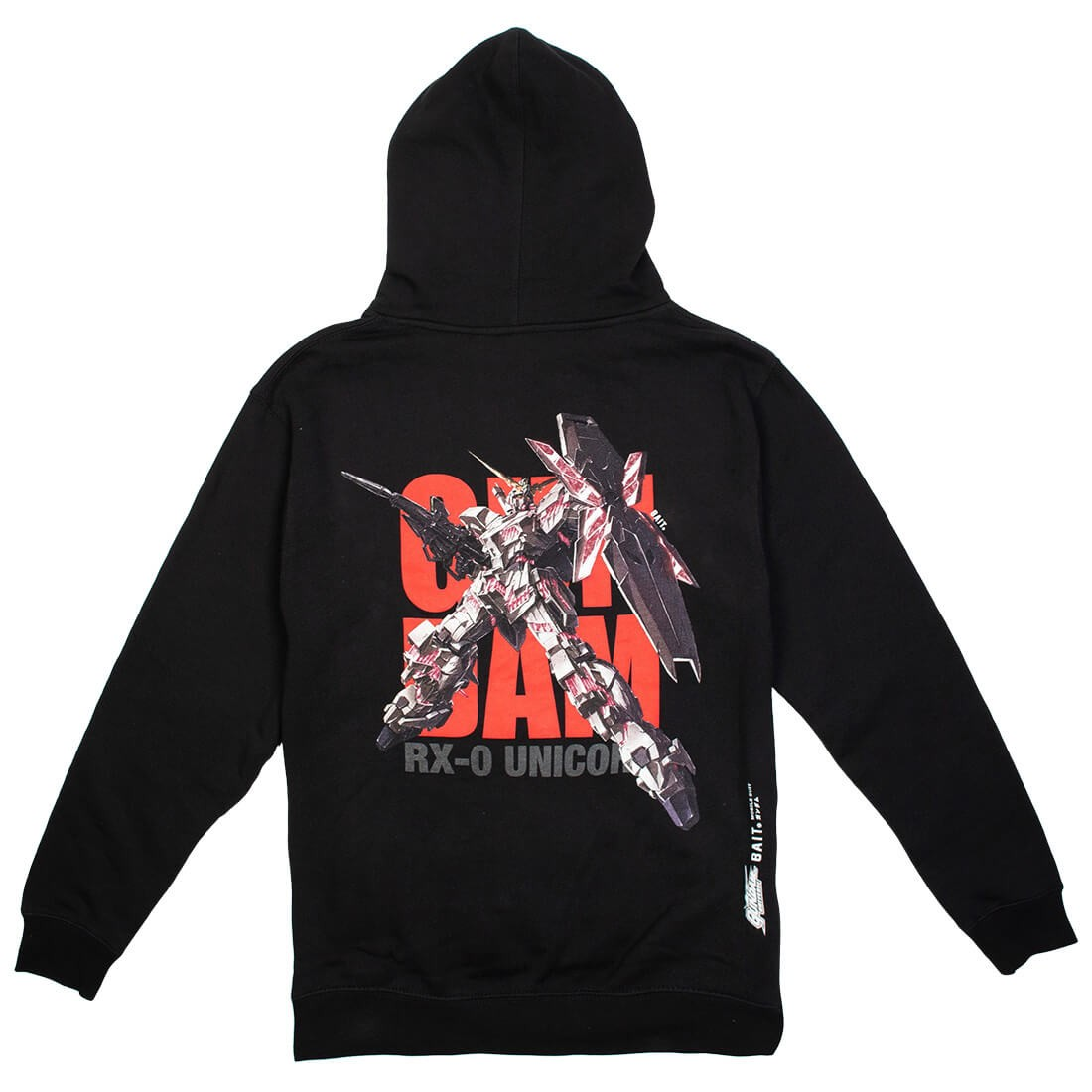 BAIT x Gundam Universe Men Unicorn Gundam Hoody (black)