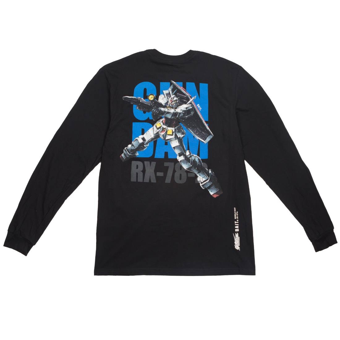BAIT x Gundam Universe Men RX-78-2 Gundam Long Sleeve Tee (black)