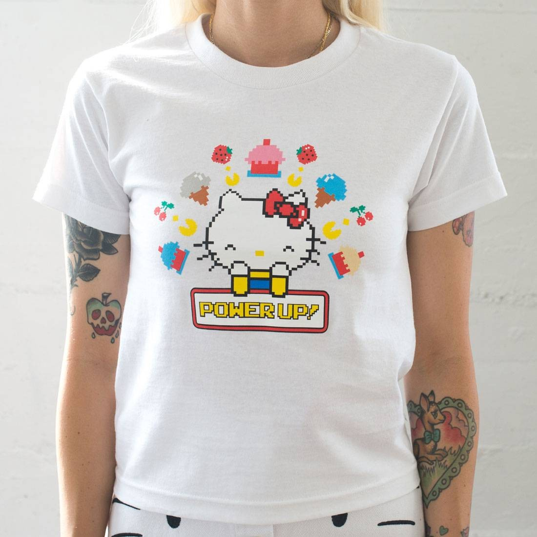 BAIT x Sanrio x Pac-Man Women Power Up Tee (white)