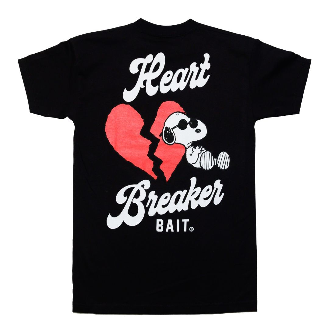 BAIT x Snoopy Men Heart Breaker Tee (black)