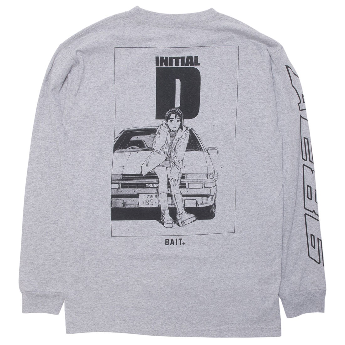 BAIT x Initial D Men AE86 Long Sleeve Tee (gray)
