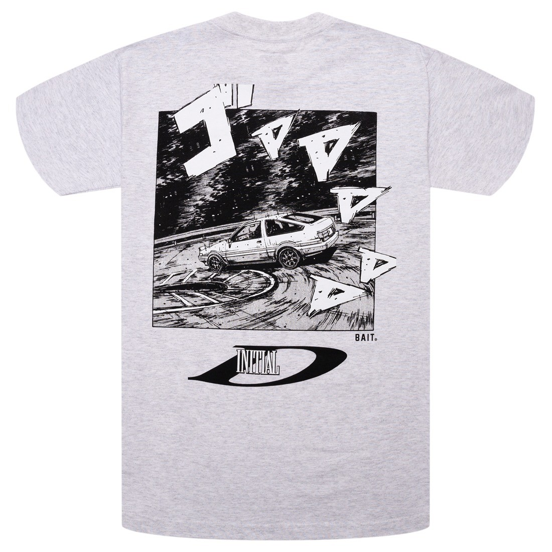 BAIT x Initial D Men Drift Design Tee (gray / silver)