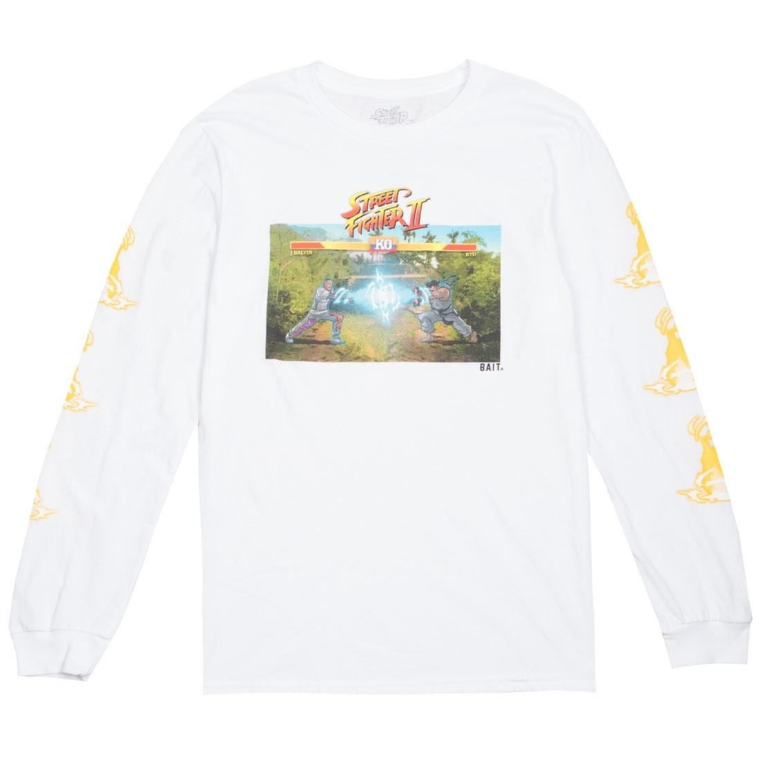 BAIT x Street Fighter x JBALVIN Men Hadouken Long Sleeve Tee (white)