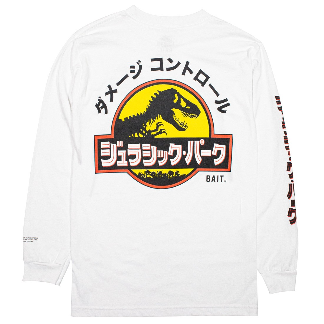 BAIT x Jurassic Park Men Damage Control Tee Long Sleeve (white)