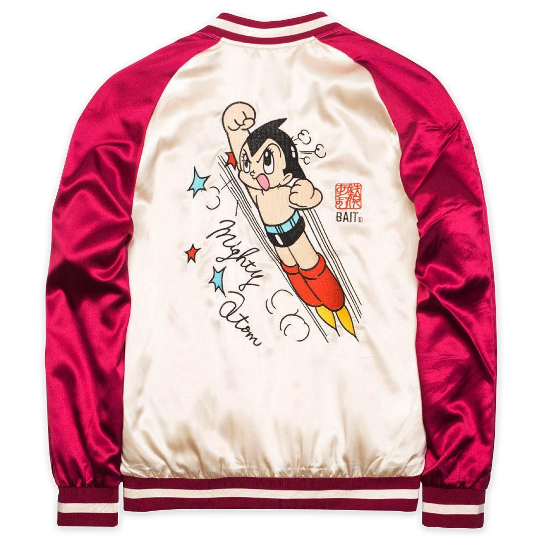 BAIT x Astro Boy Men Mighty Atom Souvenir Jacket (maroon / white)