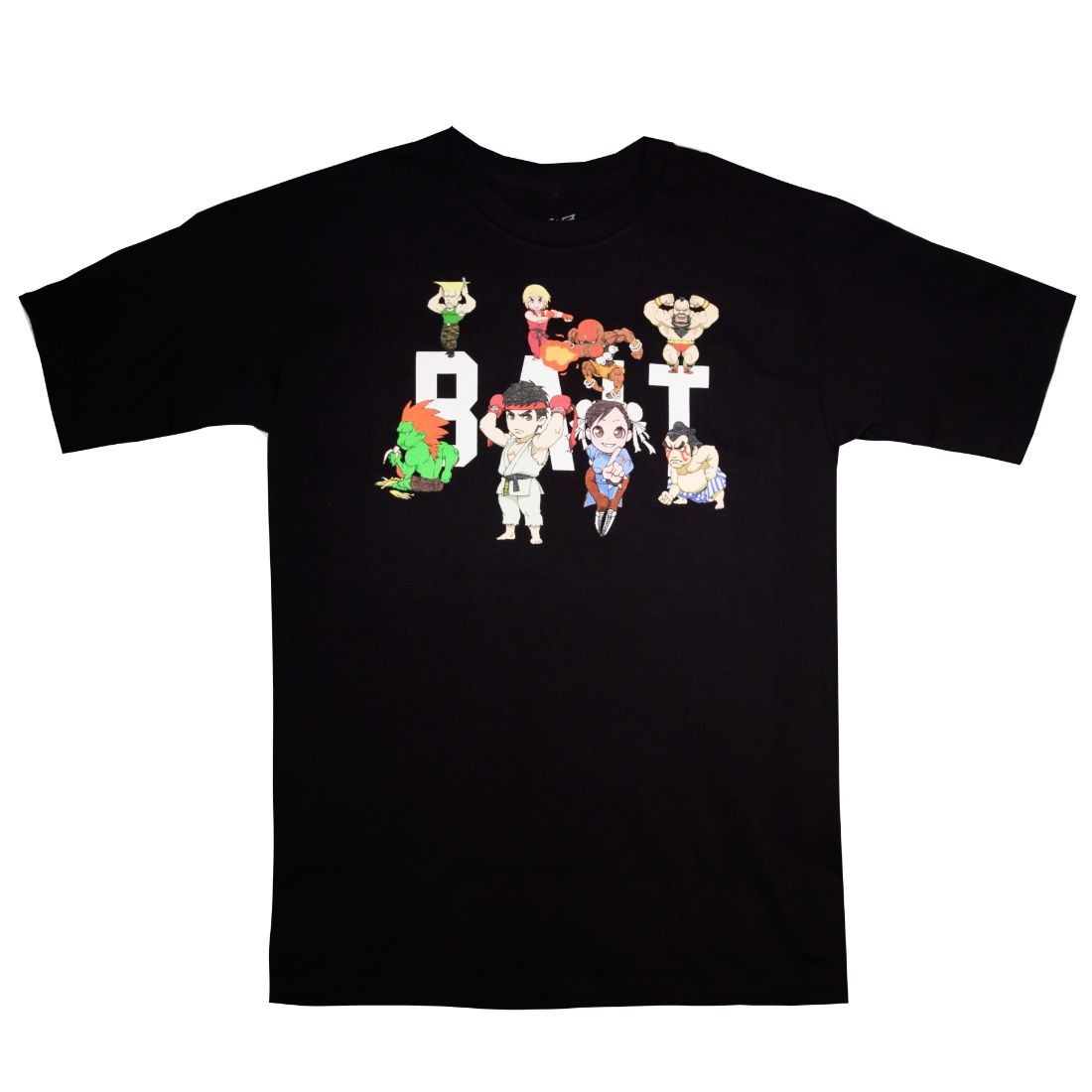 BAIT x Street Fighter Men Chibi Group Tee (black)