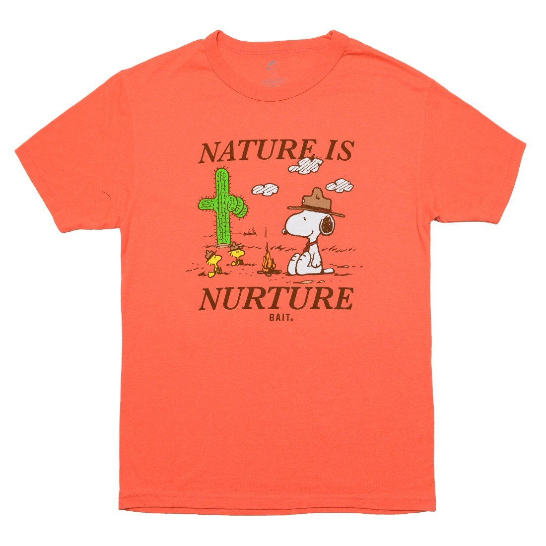 BAIT x Snoopy x Upcycle Men Nature Is Nurture Tee (pink / coral)