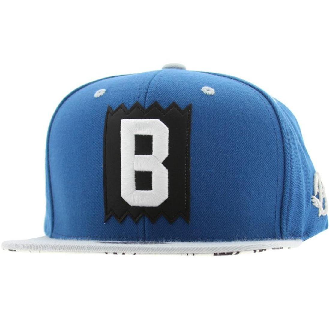 BAIT x Mitchell And Ness B Box Logo Snapback Cap (royal / grey)