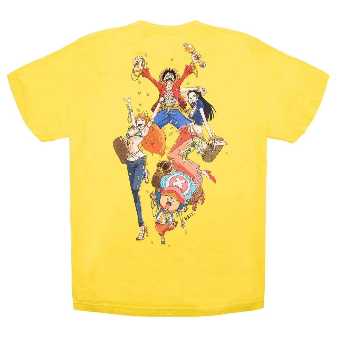 BAIT x One Piece x Upcycle LA Men Gold We Rich Tee (yellow)