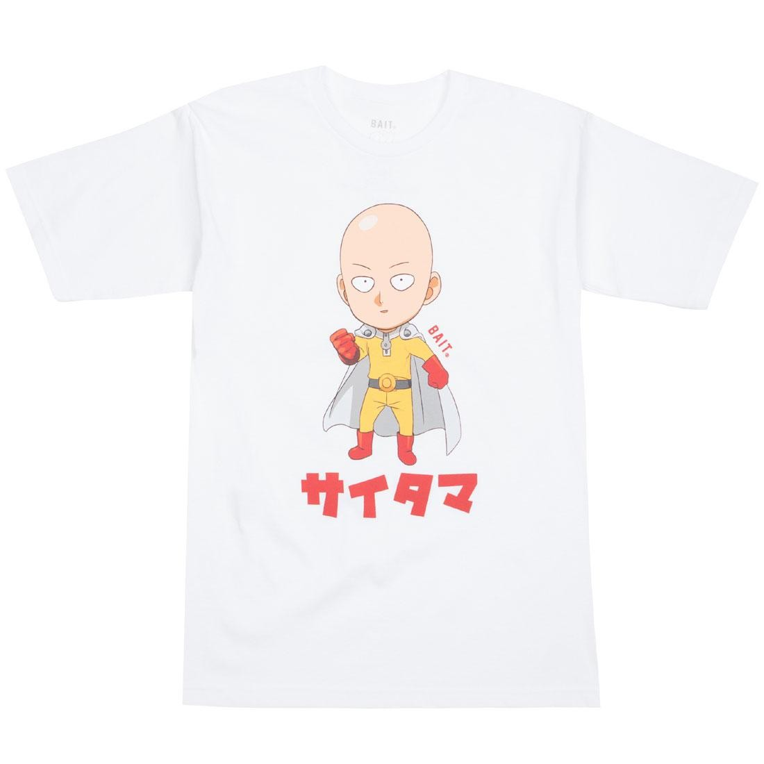 BAIT x One Punch Man Men Saitama Chibi Tee (white)