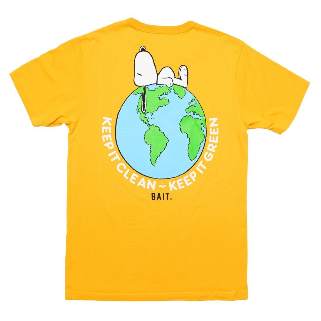 BAIT x Snoopy x Upcycle Men Our World Tee (yellow / mango)