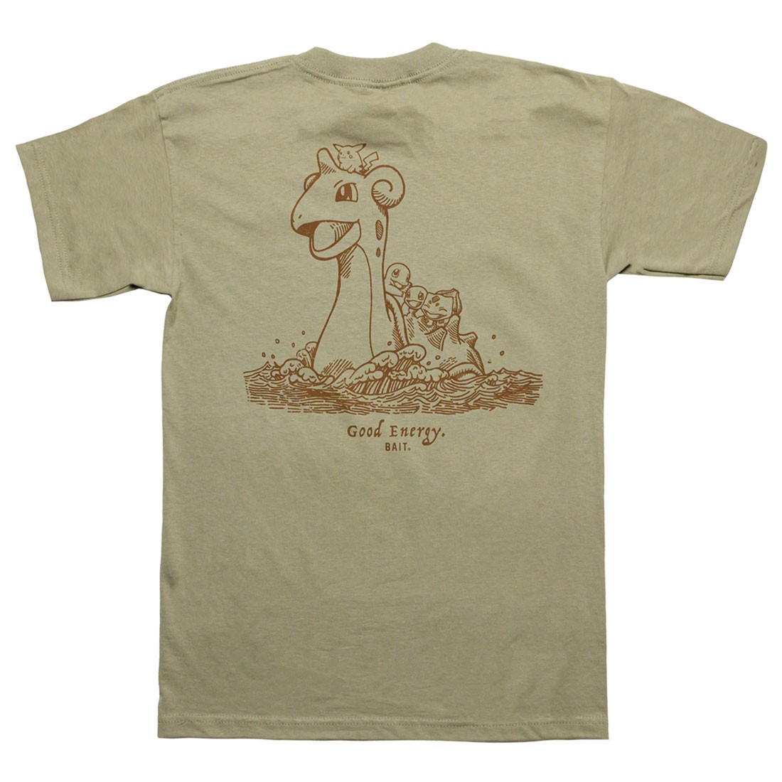 BAIT x Pokemon Sepia Men Good Energy Tee (green / safari)