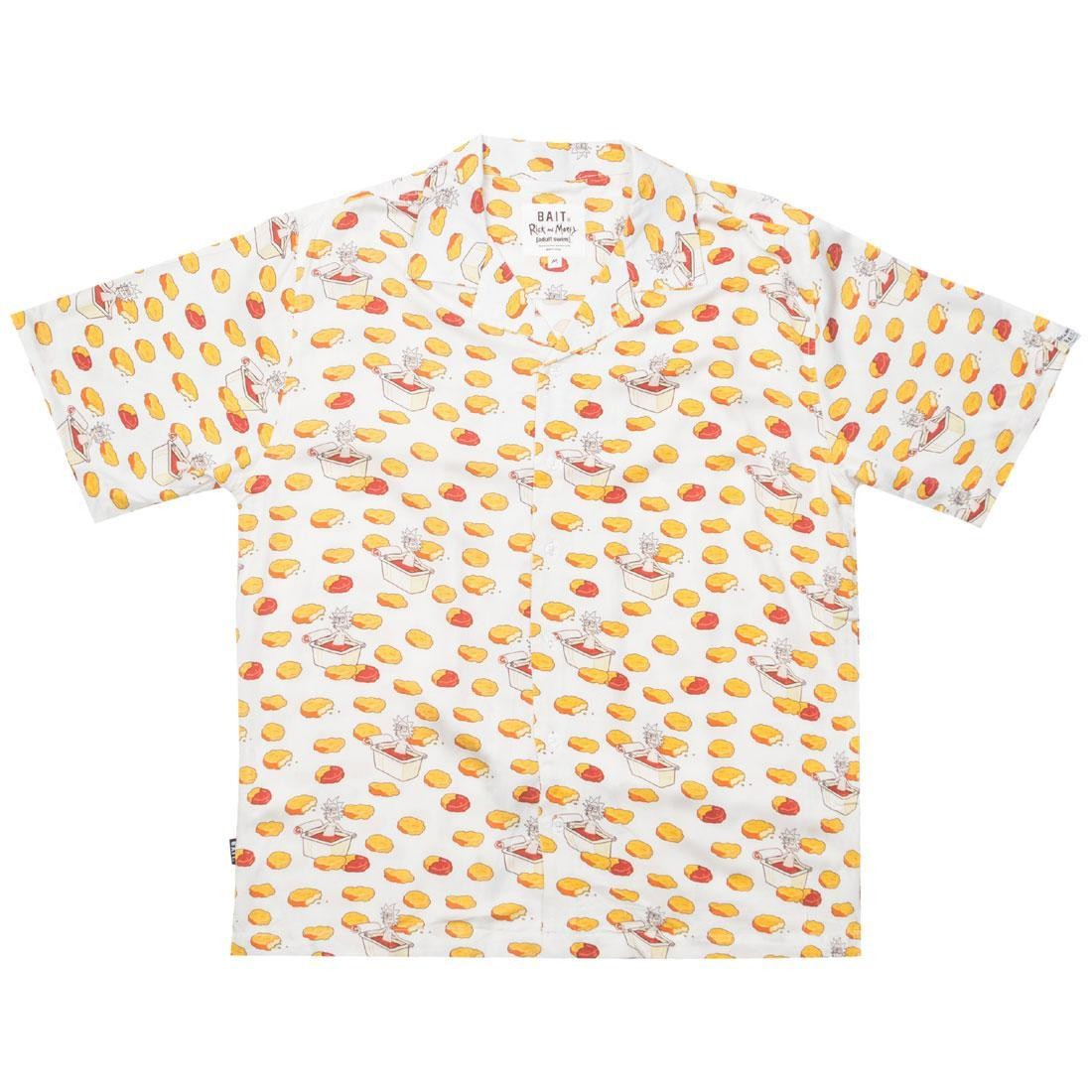 BAIT x Rick And Morty Men Chicken Nugget Hawaiian Button Up (white / nuggets)