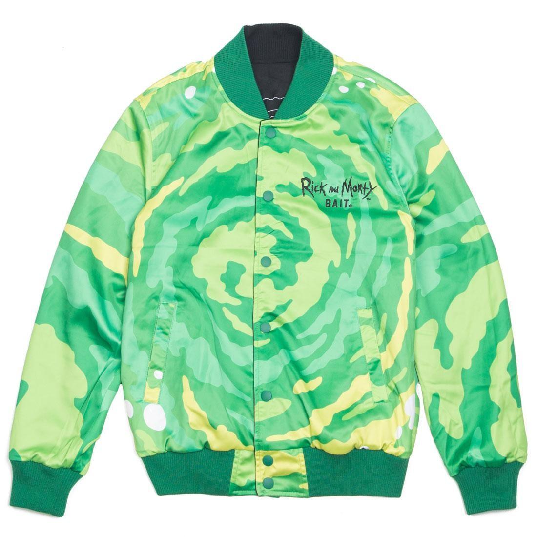 BAIT x Rick And Morty Men Reversible Varsity Jacket (black)