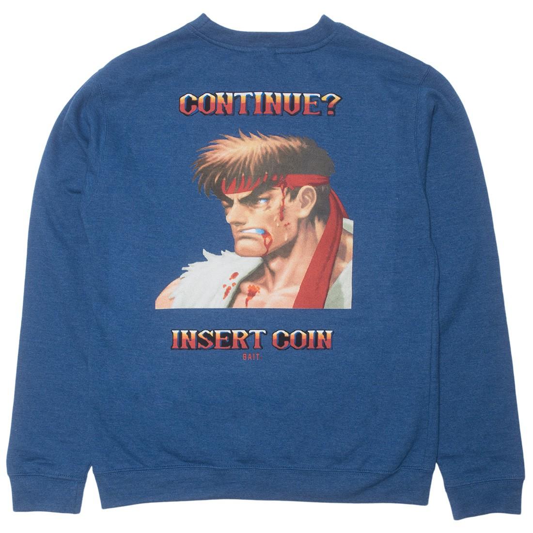 BAIT x Street Fighter Ryu Men Continue Crewneck Sweater (blue)
