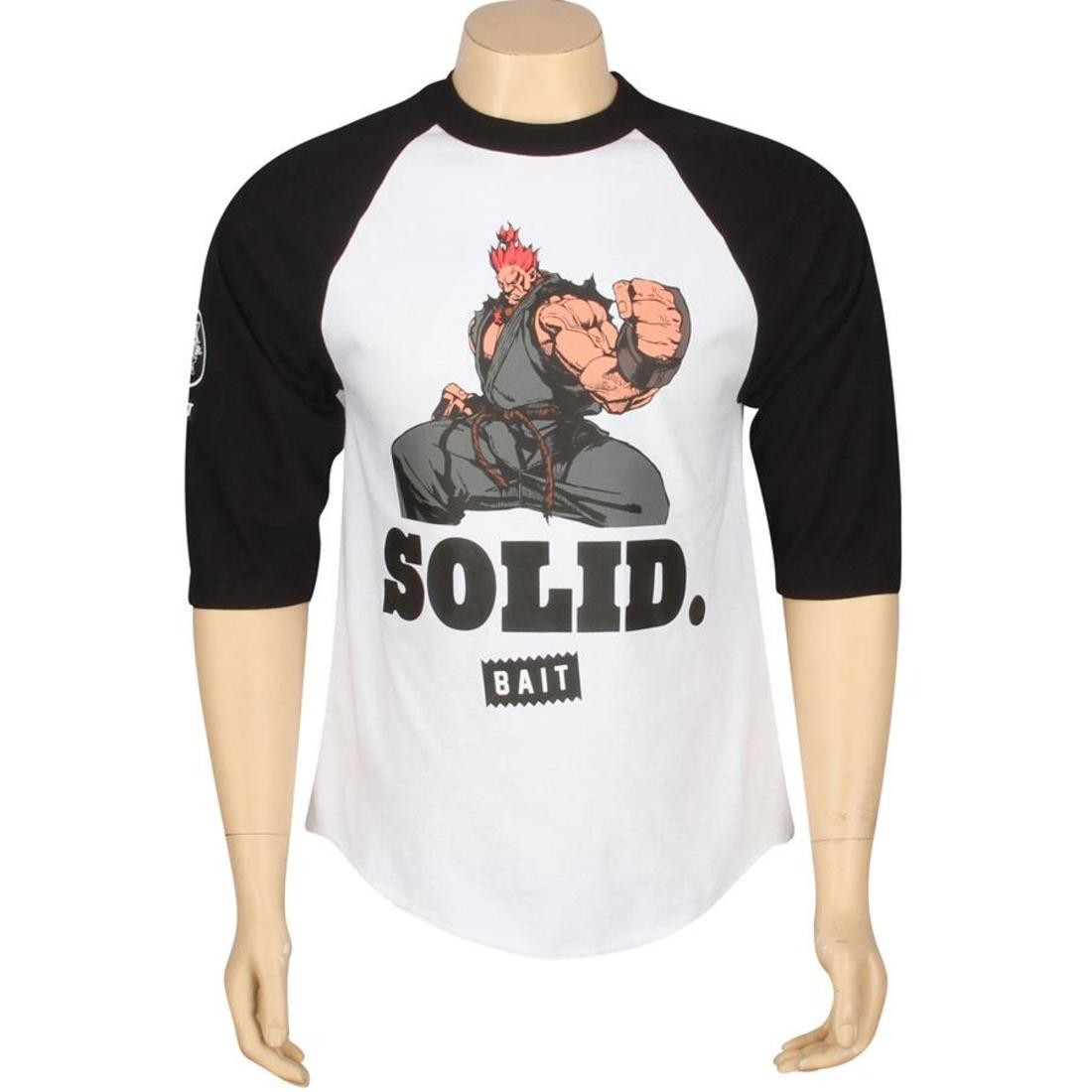 BAIT x Street Fighter Akuma Solid Raglan (white / black / color)