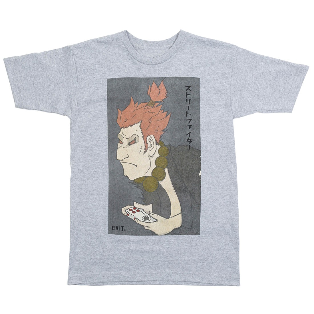 BAIT x Street Fighter x Kidokyo Men Akuma Tee (gray / dark ash)