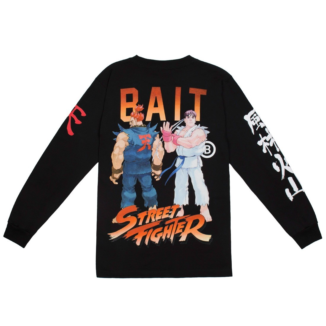 BAIT x Street Fighter Men Akuma Versus Ryu Stance Long Sleeve Tee (black)