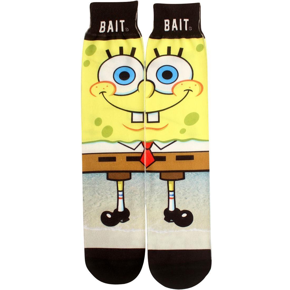 BAIT x SpongeBob SpongeBob SquarePants Crew Socks (yellow) 1S