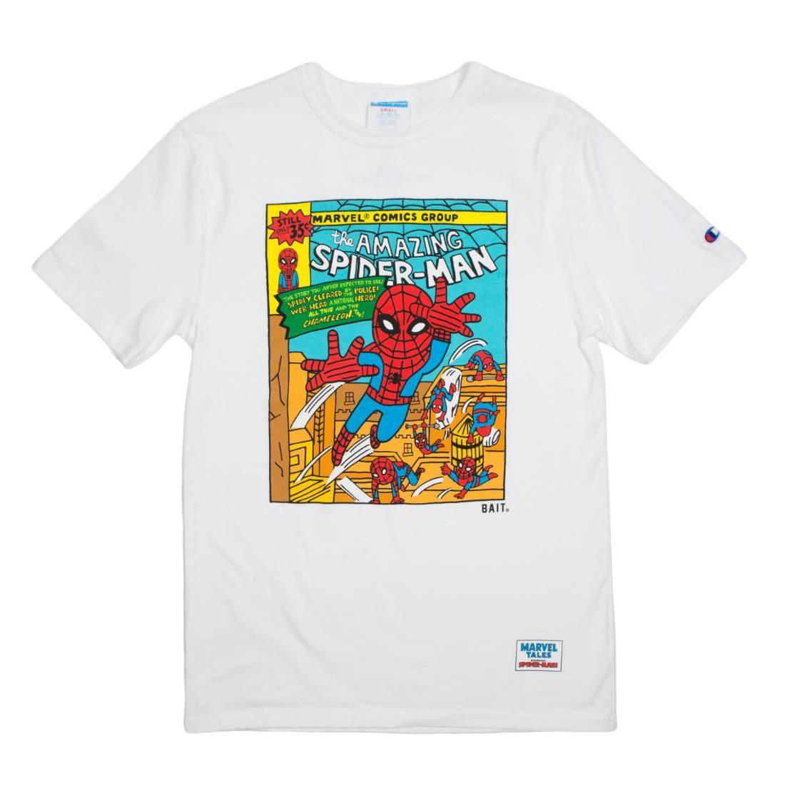 BAIT x Spiderman x Champion Men Spiderman Comic Tee (white)
